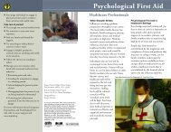 Psychological First Aid for Healthcare Professionals