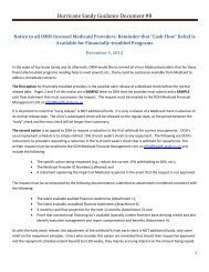 Hurricane Sandy Guidance Document #8 - New York State Office of ...
