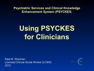 Using PSYCKES for Clinicians - Office of Mental Health - New York ...