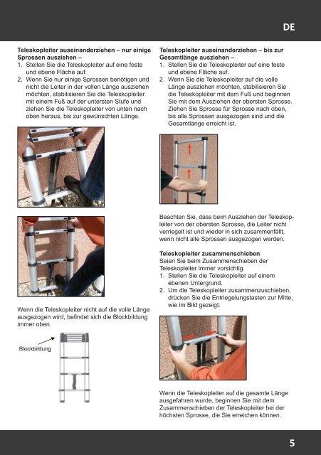 Manual GIRAFFE 3.21m Telescopic Ladder