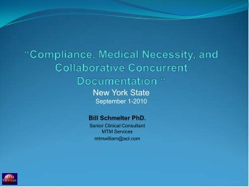 Bill Schmelter PhD. - New York State Office of Mental Health