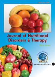 Journal of Nutritional Disorders & Therapy - OMICS Group