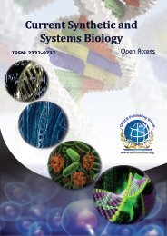 Current Synthetic & Systems Biology - OMICS Group
