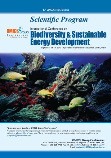 Biodiversity & Sustainable Energy Development - OMICS Group