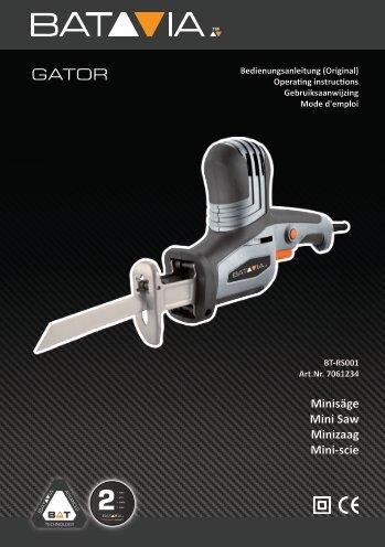 Manual GATOR Mini-Saw