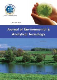 Journal of Environmental & Analytical Toxicology - OMICS Group