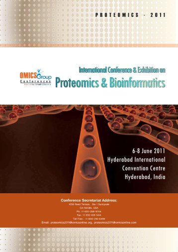 6-8 June 2011 Hyderabad International Convention ... - OMICS Group