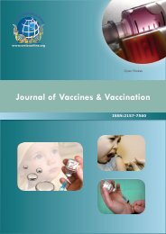 Journal of Vaccines & Vaccination - OMICS Group