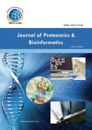 Journal of Proteomics & Bioinformatics - OMICS Group