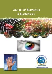 Journal of Biometrics & Biostatistics - OMICS Group