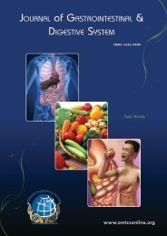 Journal of Gastrointestinal & DiGestive system - OMICS Group