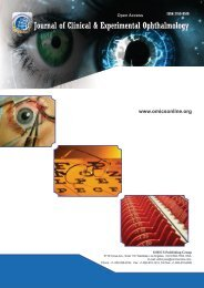 Journal of Clinical & Experimental Ophthalmology - OMICS Group