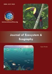 Journal of Ecosystem & Ecography - OMICS Group