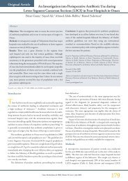 An Investigation into Perioperative Antibiotic Use during ... - OMJ