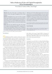 Safety of Induction of Labor with Vaginal Prostaglandins (E2 ... - OMJ