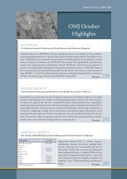 Issue's Highlights - OMJ