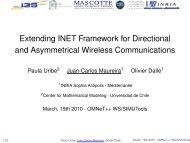 Extending INET Framework for Directional and Asymmetrical ...