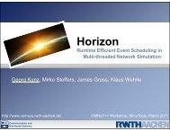 Horizon: Expanded Events - International Workshop on OMNeT++