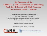 An Extension of the OMNeT++ INET Framework for Simulating Real ...