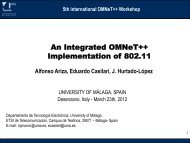 An Integrated OMNeT++ Implementation of 802.11 - International ...
