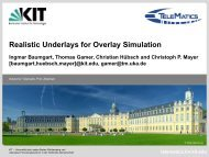Realistic Underlays for Overlay Simulation - International Workshop ...