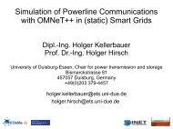(static) Smart Grids - International Workshop on OMNeT++