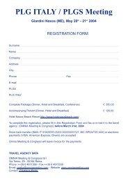 PLG ITALY / PLGS Meeting Giardini Naxos (ME ... - Omnia Meeting