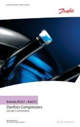 Danfoss Household Compressors - R404A