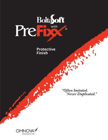 PreFixx Brochure - Omnova Solutions, Inc