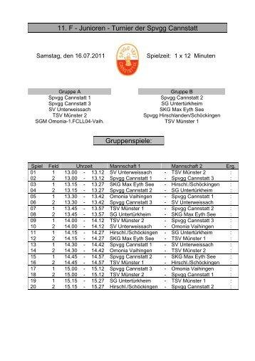 Turnier der Spvgg Cannstatt Gruppenspiele - SGM Omonia-1.FCLL04