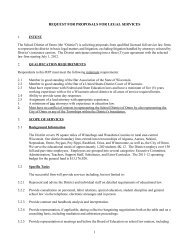 request for proposals for legal services 1 - School District of Omro