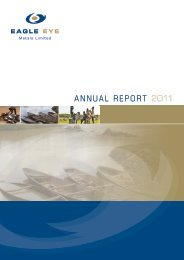 Annual Report to Shareholders - Eagle  Eye Metals