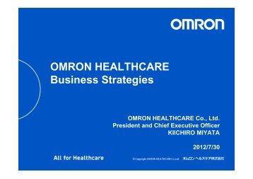 OMRON HEALTHCARE Business Strategies