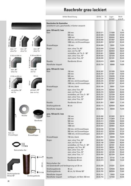 emailliert Rosette /ø 150 mm Wei/ß starr Ofenrohr