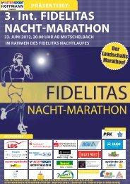 3. Int. FIdelItas Nacht-MarathoN 23. JUNI 2012 ... - Fidelitas Nachtlauf