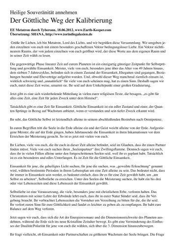 Der Göttliche Weg der Kalibrierung - OMSPIRIT – Magazin