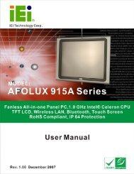 AFOLUX LX Series Panel PC User Manual - Omtec
