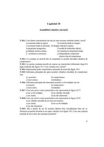 Capitolul 18 Asamblari elastice (arcuri)