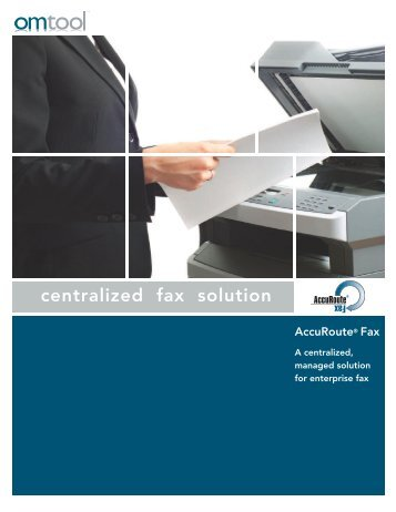 AccuRoute Fax Brochure - Omtool