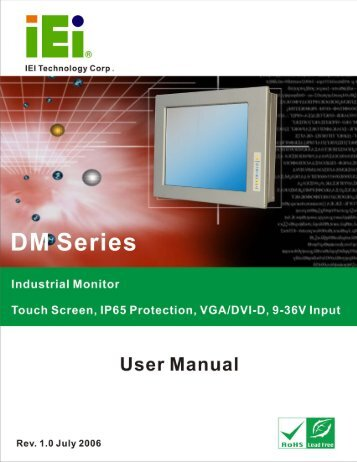 DM Series Industrial Monitor Page 1 - OMTEC