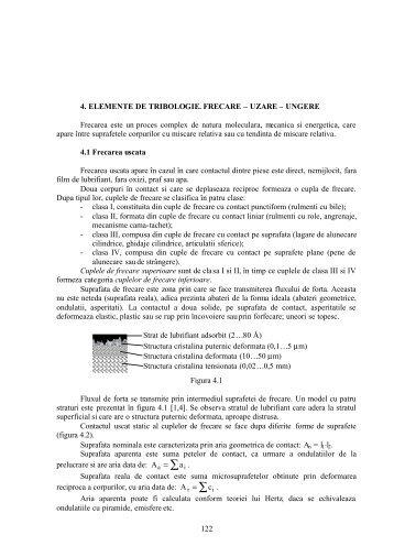 Elemente de Tribologie - Catedra de Organe de Masini si Tribologie
