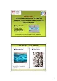Sinteza a realizarilor 2007-2009