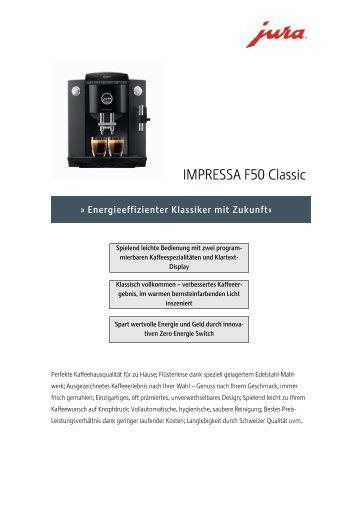 IMPRESSA F50 Classic_Schwarz - FH Service GmbH