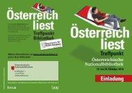 Programm Österreich liest 2010 - Österreichische Nationalbibliothek
