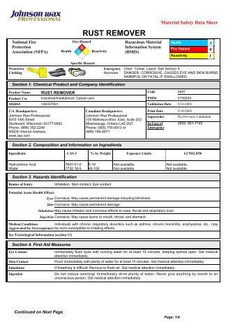 Download Msds Chlorine Remover Pdf 239kb Zodiac