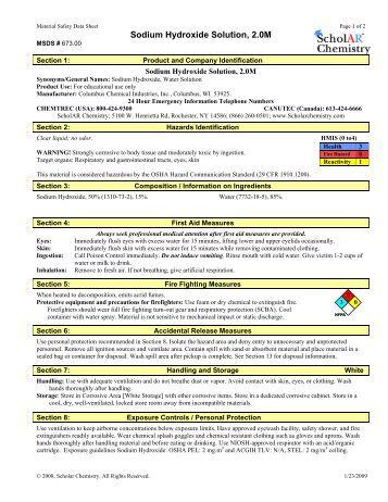 POTASSIUM HYDROXIDE MSDS.pdf - ArizonaEnergy.org