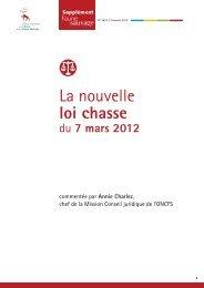 La nouvelle loi chasse du 7 mars 2012 - Oncfs