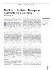 The Role of Radiation Therapy in Gastrointestinal Bleeding