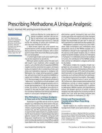 Prescribing Methadone, A Unique Analgesic - Oncology Practice ...