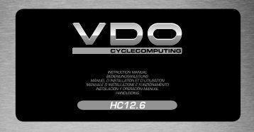 Bedienungsanleitung - HC 12.6 - VDO